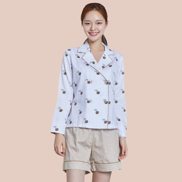 BT21 x Hunt Innerwear - Double Button Pajamas Set - Shooky
