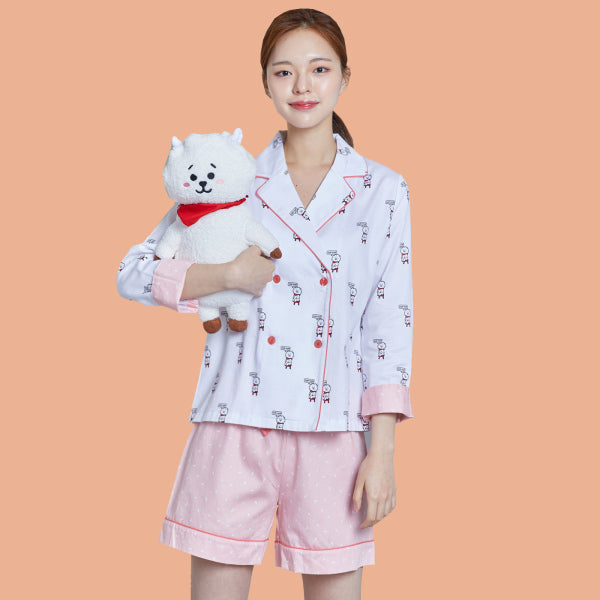 BT21 x Hunt Innerwear - Double Button Pajamas Set - RJ