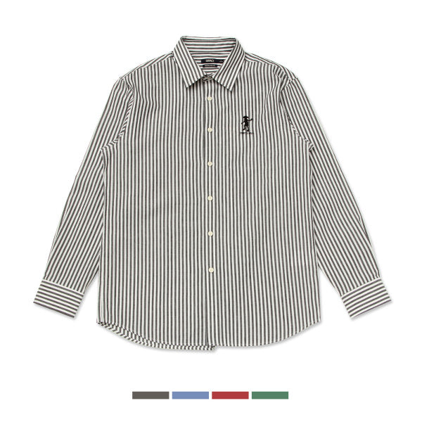 SPAO x Harry Potter - Motif Embroidered Striped Shirt