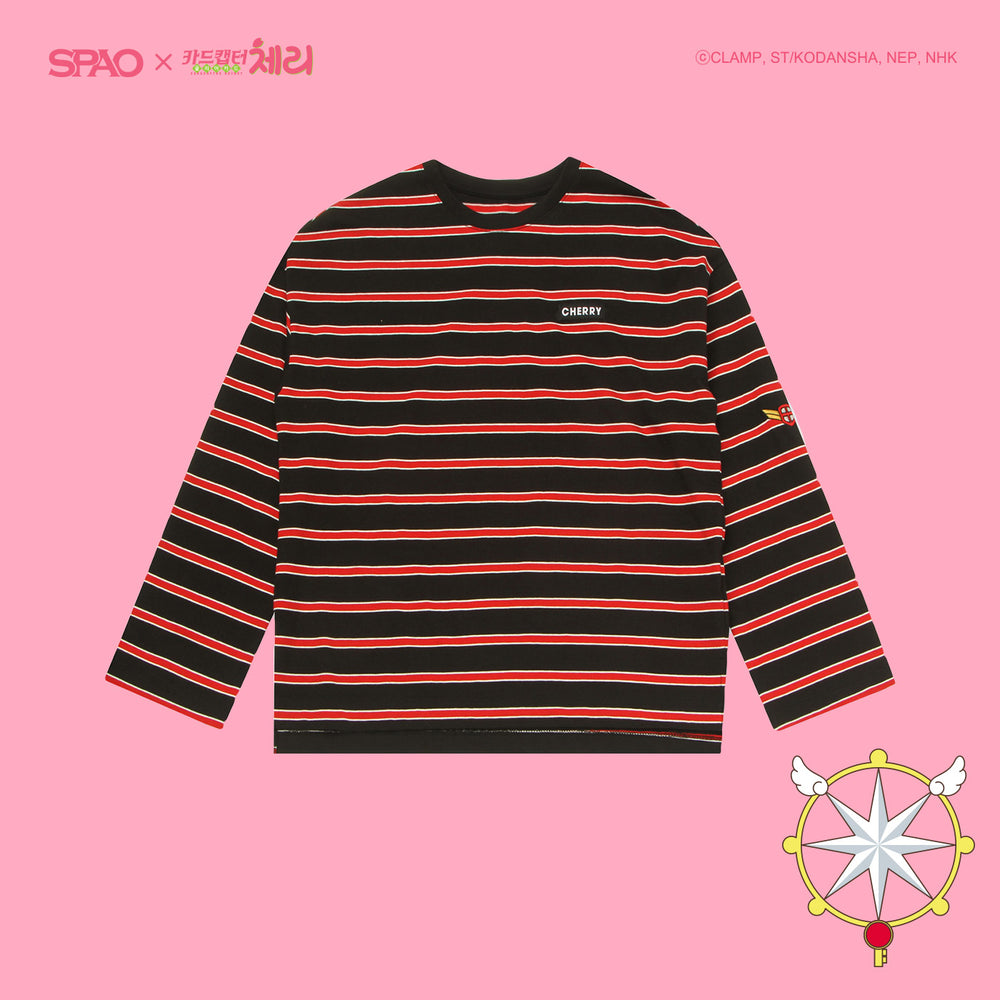 SPAO x Cardcaptor Sakura - Long Sleeve Striped T-Shirt