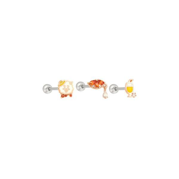 BT21 x OST - Silver Stud Earrings - RJ