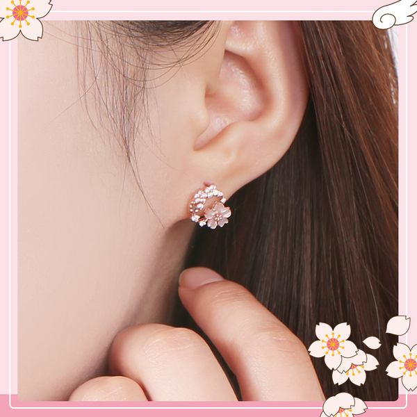 OST x Cardcaptor Sakura - Cherry Blossom Wing Earrings