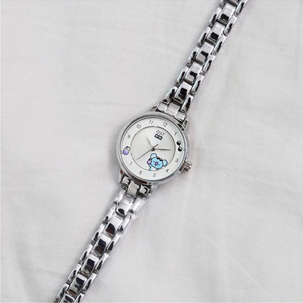 BT21 x OST - Silver Metal Watch - Koya
