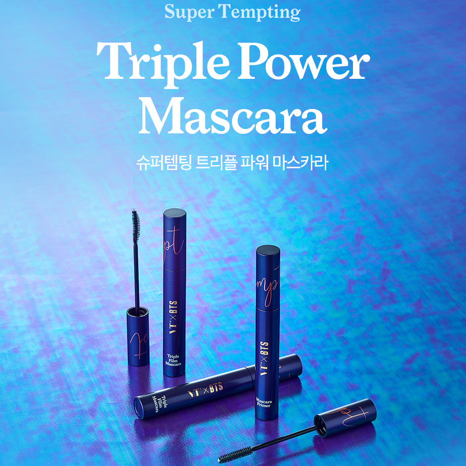 VT x BTS - Super Tempting Triple Power Mascara