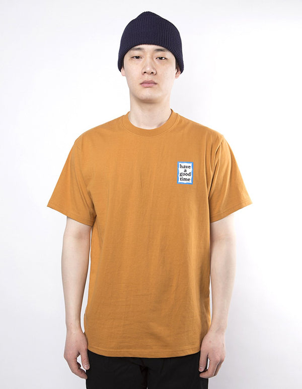 have a good time - Mini Blue Frame Short Sleeve T-shirt - Wood
