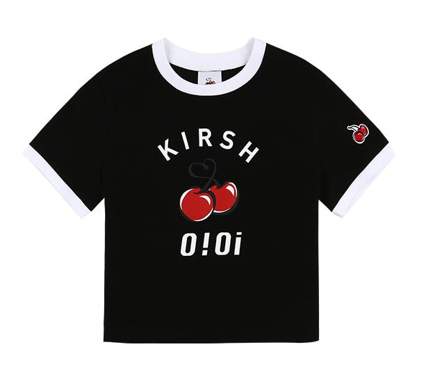 O!Oi x Kirsh - Big Logo Crop T-shirt