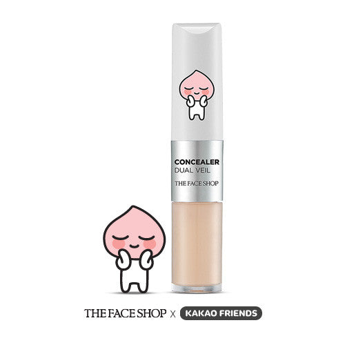 The Face Shop X Kakao Friends Concealer Dual Veil Ivory Beige
