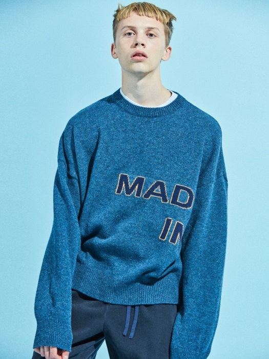 Nohant - Made in Seoul - Knit Sweater - Blue