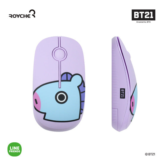 BT21 x Royche - Wireless Silent Mouse - Mang