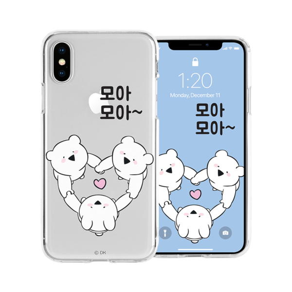 Overaction Rabbit  - Clear Jelly Phone Case - 3 Rabbits