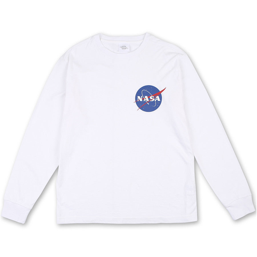 d3054fea Siero x NASA - NASA Long Sleeve T-Shirt - White | Harumio