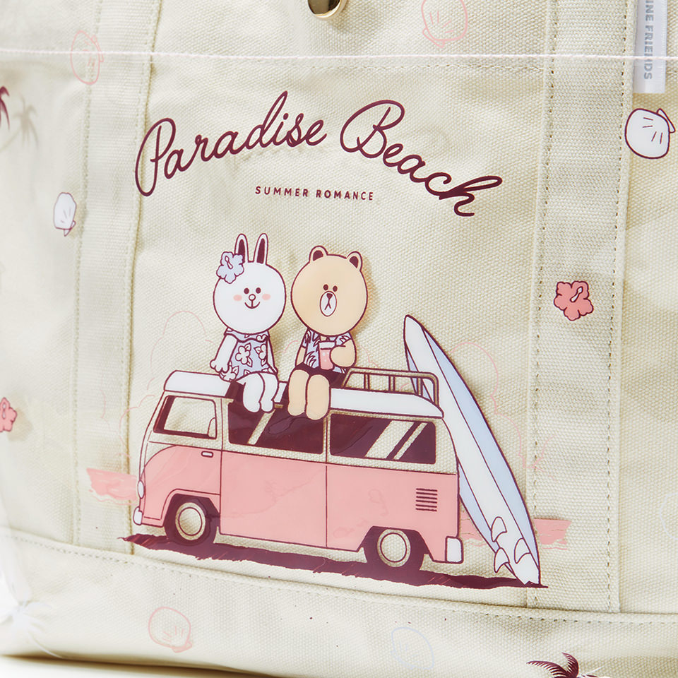 Line Friends - Brown & Cony Beach Tote Bag - Bag - Harumio