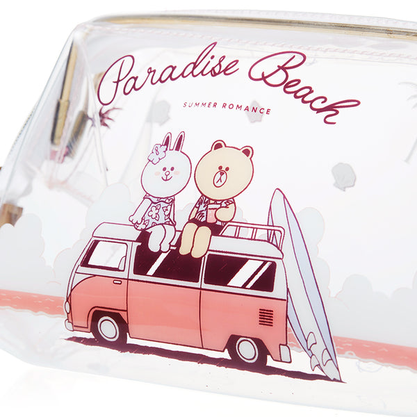 Line Friends - Brown & Cony Beach Pouch - Bag - Harumio