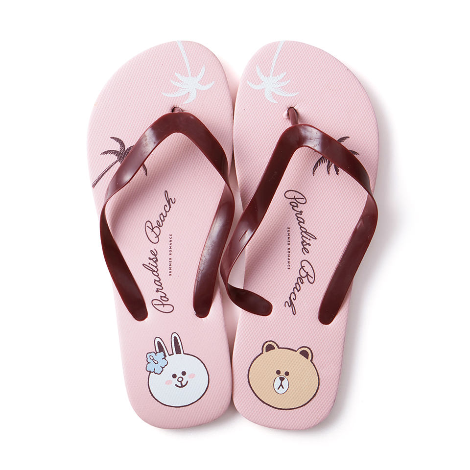 Line Friends - Brown & Cony Beach Slipper - Bag - Harumio