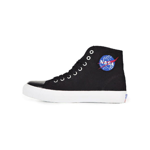 Siero x NASA - Logo Patch High Top Sneakers - Black