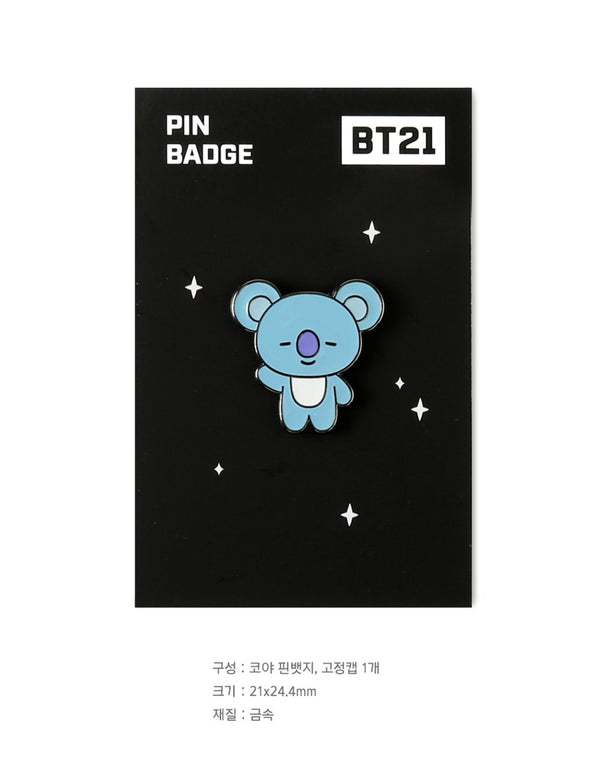 BT21 Brooch Pin Badge - KOYA - Stationary, Accessories - Harumio