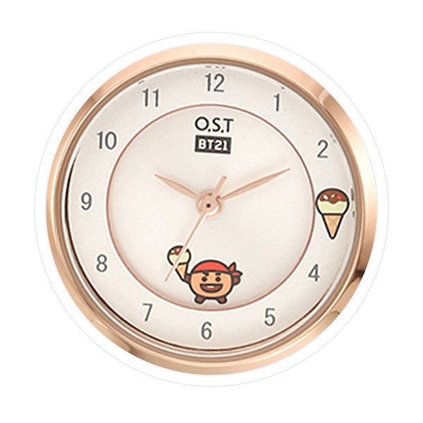 BT21 x OST - Rose Gold Metal Watch - Shooky