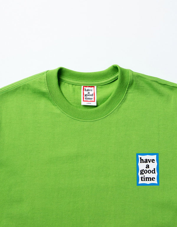 have a good time - Mini Blue Frame Short Sleeve T-shirt - Leaf Green
