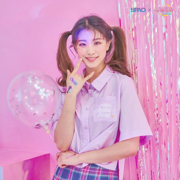 Sailor Moon  X SPAO - Sailor Moon Crop Shirt