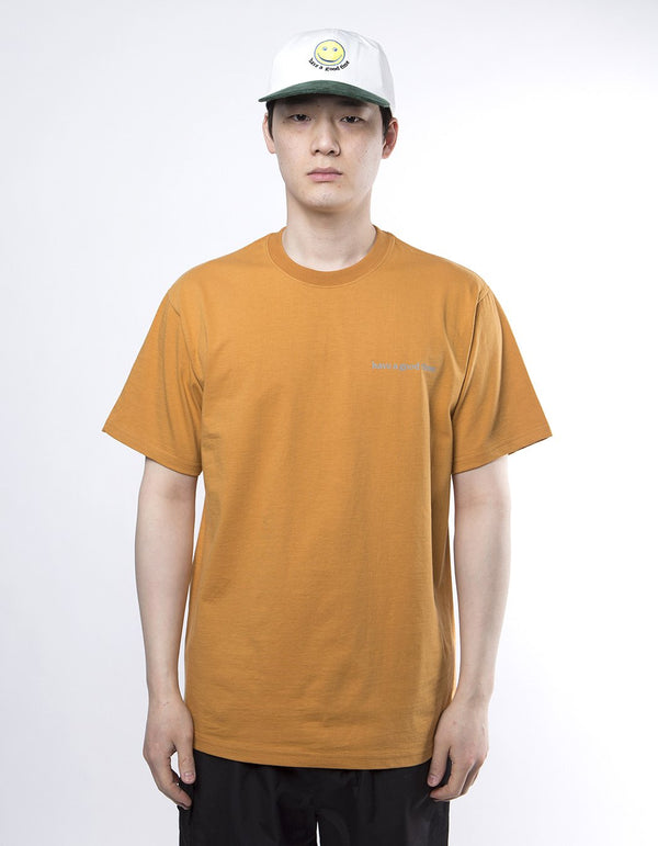 have a good time - Side Logo Short Sleeve T-shirt - Wood