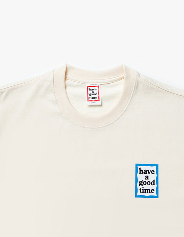 have a good time - Mini Blue Frame Short Sleeve T-shirt - Cream