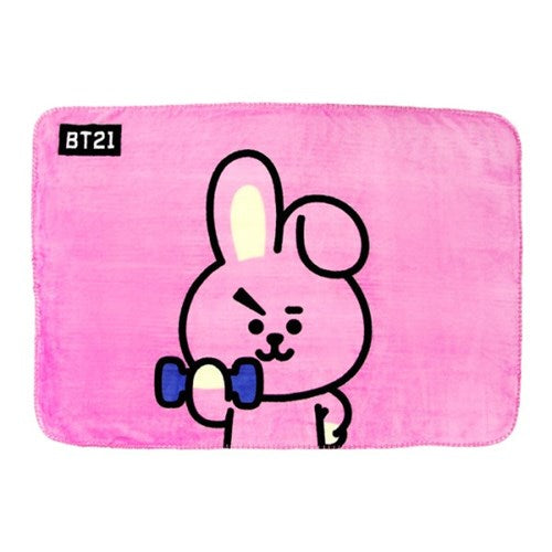 BT21 x Nara Home Deco - Flannel Blanket - Cooky