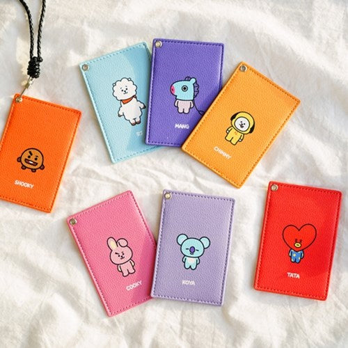 BT21 x Kumhong Fancy - PU Card Wallet with Lanyard