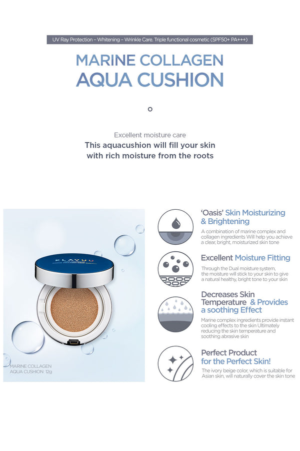 Klavuu - Blue Pearlsation High Coverage Marine Collagen Aqua Cushion Refill Set