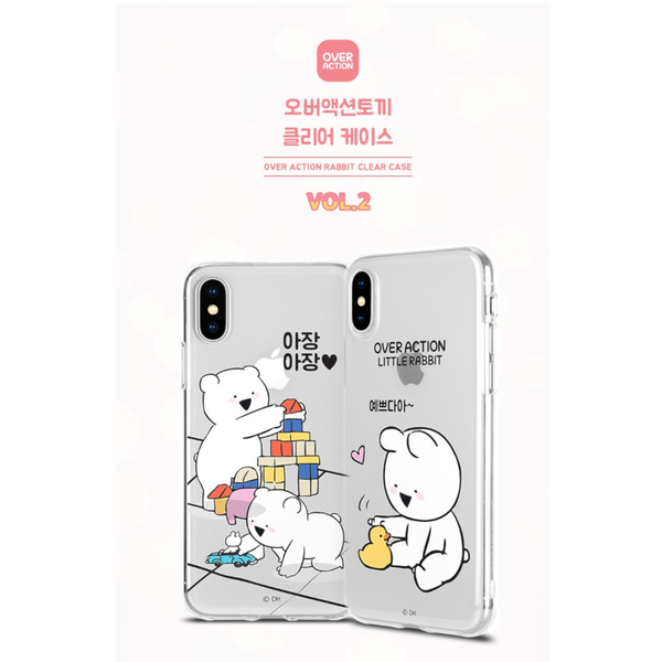Overaction Rabbit - Clear Jelly Phone Case - Playtime