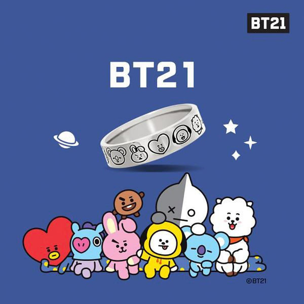 BT21 x OST - All Characters Silver Ring