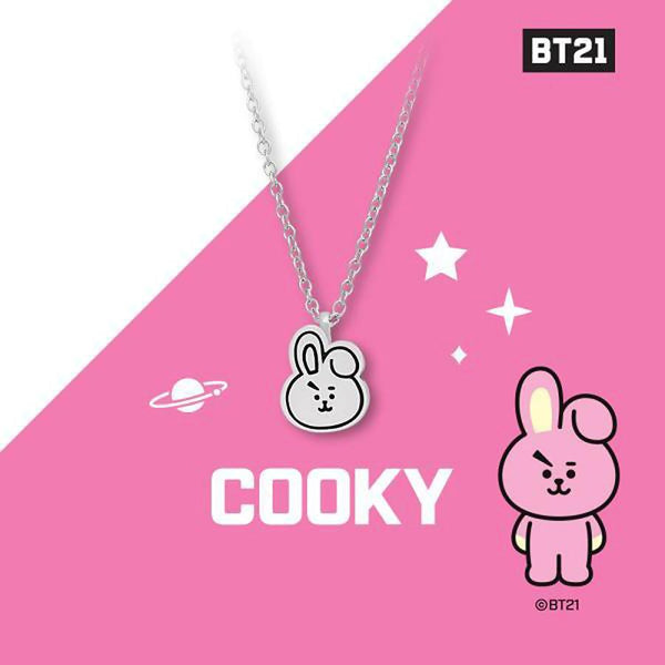 BT21 x OST - Cooky Silver Necklace