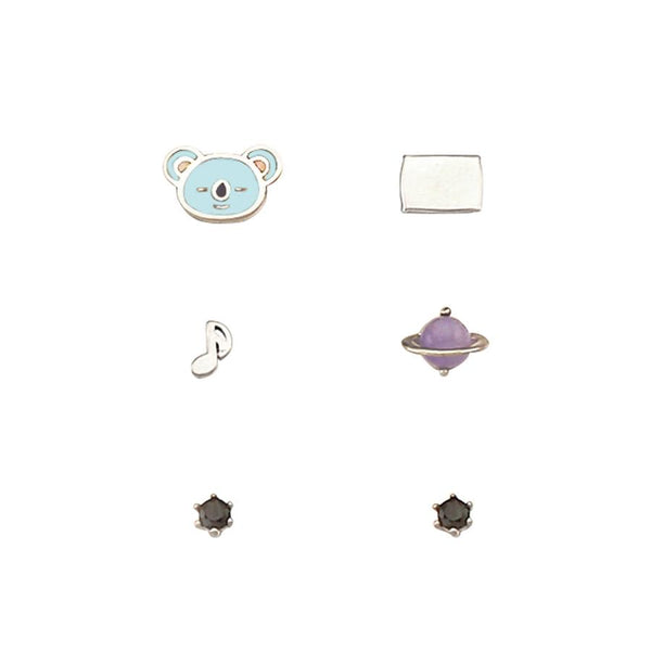 BT21 x OST - Koya Silver Earrings Pack