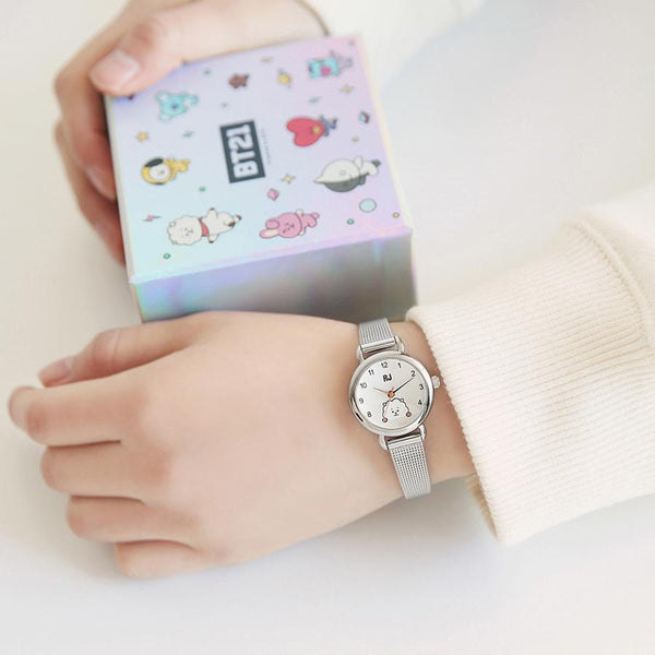 BT21 x OST - RJ Silver Mesh Watch