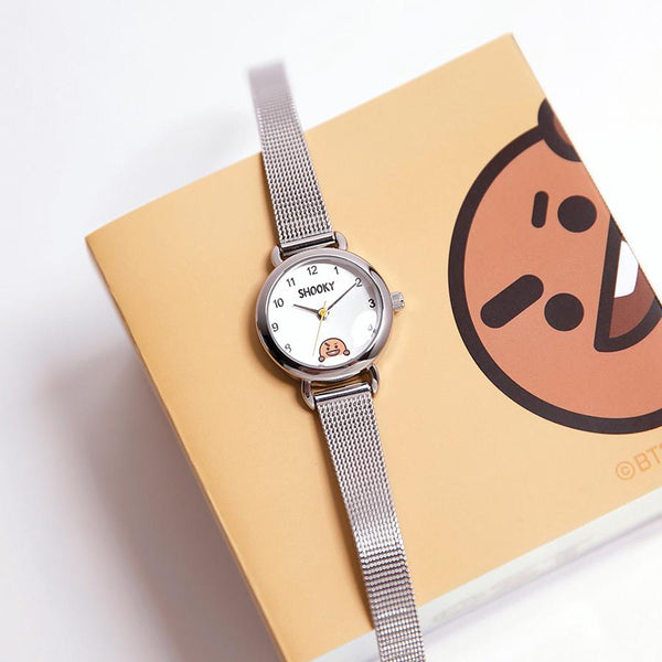 BT21 x OST - Shooky Silver Mesh Watch