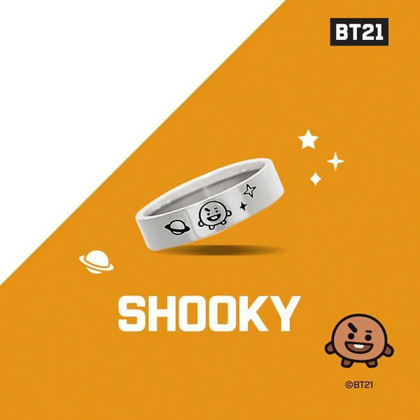 BT21 x OST - Shooky Silver Ring