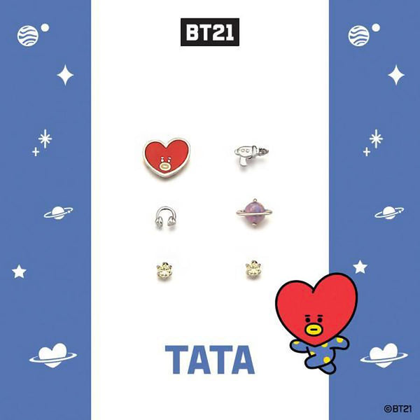 BT21 x OST - Tata Silver Earrings Pack