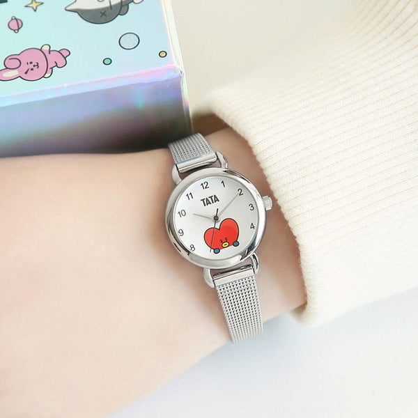 BT21 x OST - Tata Silver Mesh Watch