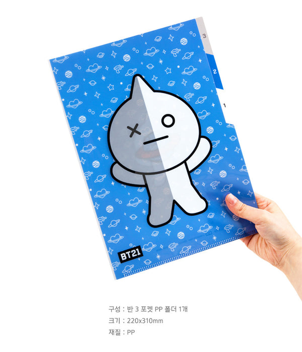 BT21 3 Pocket PP Folder - VAN - Stationary, Accessories - Harumio