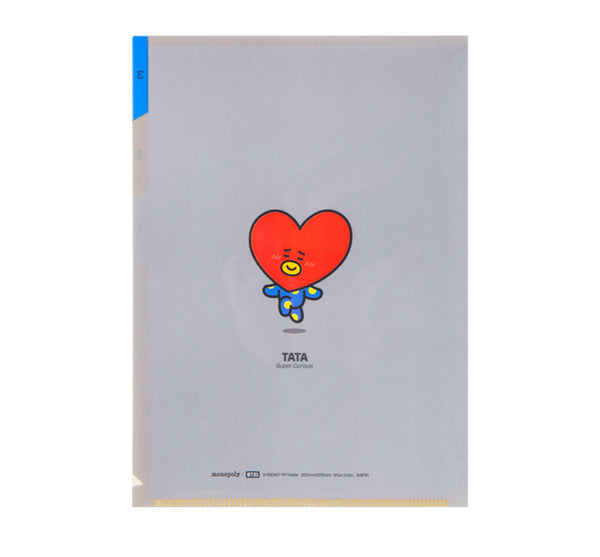 BT21 3 Pocket PP Folder - TATA - Stationary, Accessories - Harumio