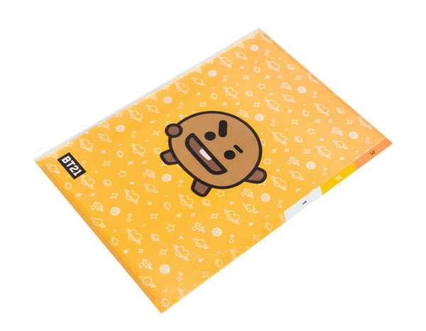 BT21 3 Pocket PP Folder - SHOOKY - Stationary, Accessories - Harumio