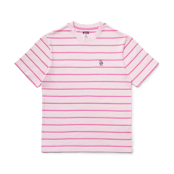 BT21 - Cooky Basic Striped Short Sleeve T-Shirt