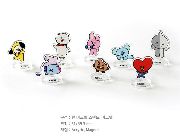 BT21 Acrylic Magnet Stand - VAN - Stationary, Accessories - Harumio