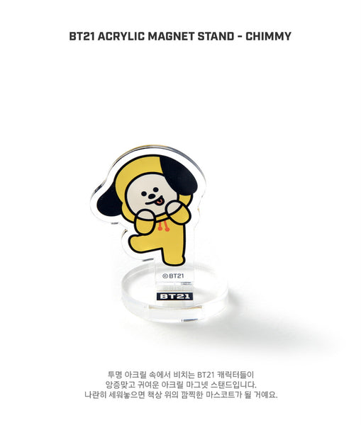 BT21 Acrylic Magnet Stand - CHIMMY - Stationary, Accessories - Harumio