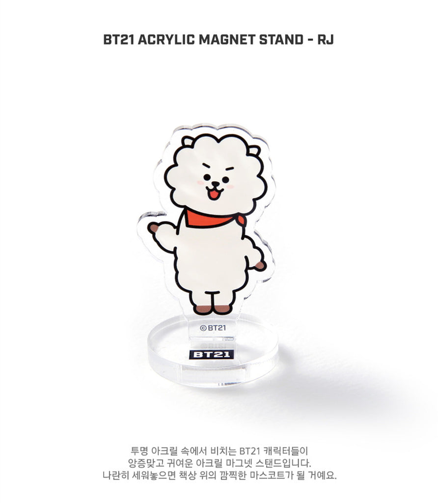 BT21 Acrylic Magnet Stand - RJ - Stationary, Accessories - Harumio
