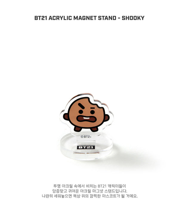 BT21 Acrylic Magnet Stand - SHOOKY - Stationary, Accessories - Harumio