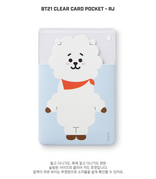 BT21 Clear Card Pocket - RJ - Stationary, Accessories - Harumio