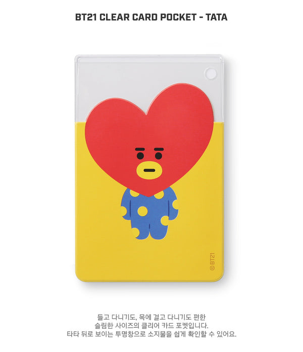 BT21 Clear Card Pocket - TATA - Stationary, Accessories - Harumio
