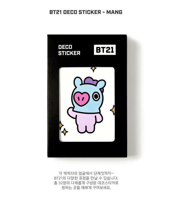 BT21 Deco Sticker - MANG - Stationary, Accessories - Harumio
