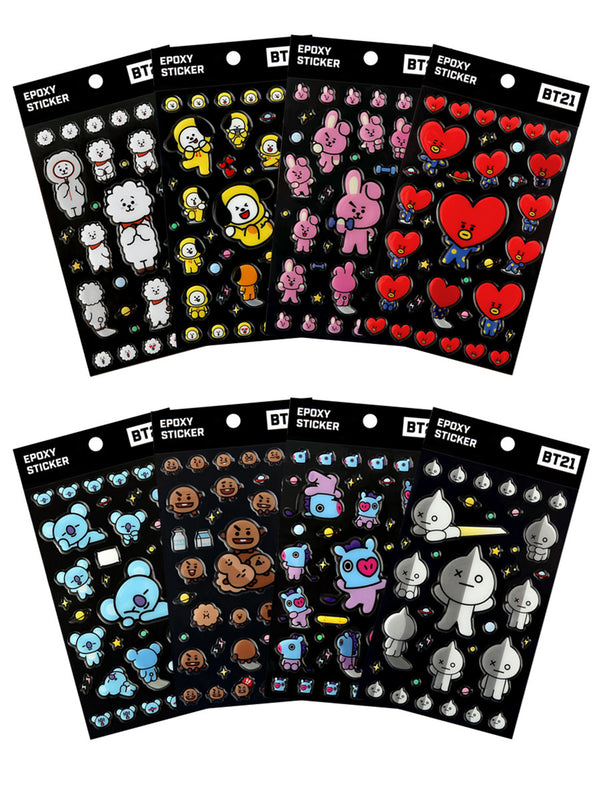 BT21 Epoxy Sticker - RJ - Stationary, Accessories - Harumio