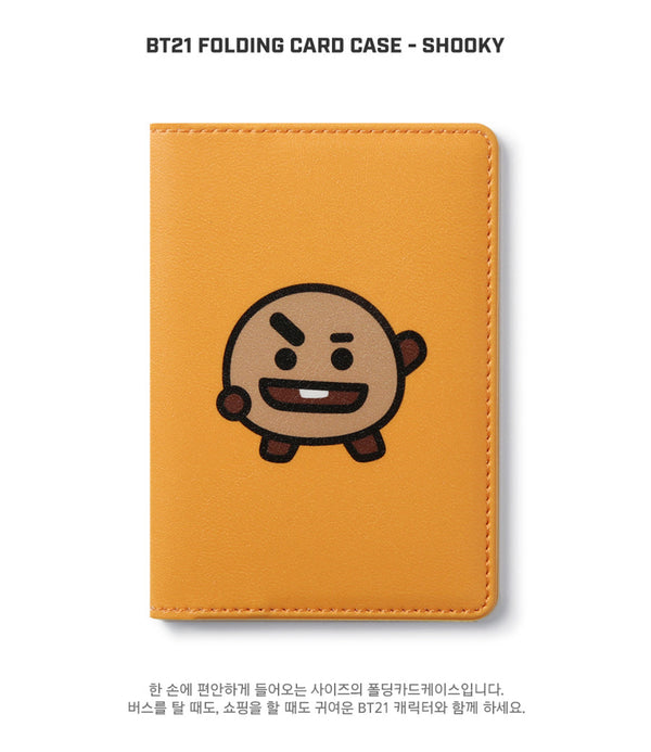 BT21 Folding Card Case - SHOOKY - Stationary, Accessories - Harumio
